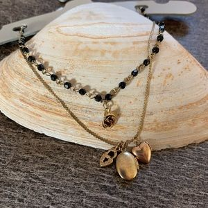 Urban outfitters locket layered necklace